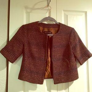 Nanette Lepore Cropped Brown Jacket